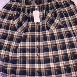 Plaid flannel skirt (modcloth)